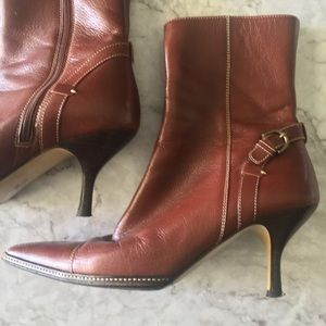 Coach Seanna Brown Leather Ankle Boots